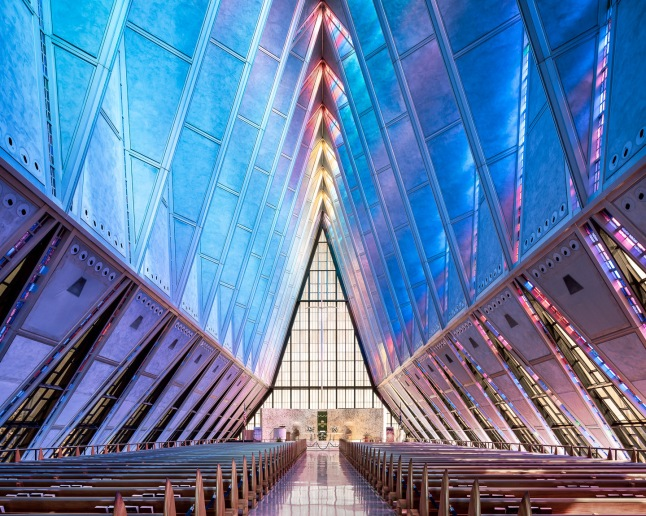 Thibaud Poirier. United States Air Force Academy Cadet Chapel, Colorado Springs (Walter Netsch, 1962)