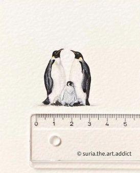 Miniature drawing by Suria Prabha